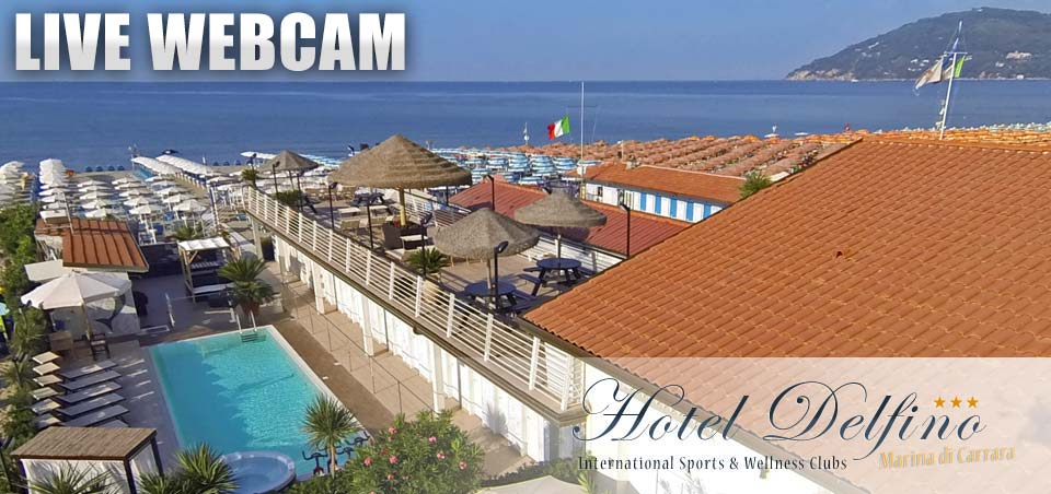 Webcam Bagno Delfino in Marina di Carrara